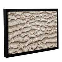 ArtWall 'Cora Niele's Sand Patterns' Gallery Wrapped Floater-framed Canvas