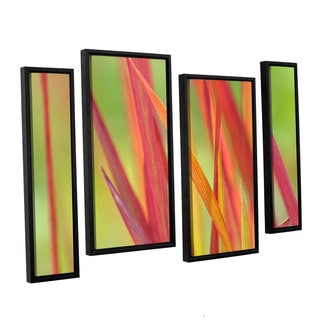 ArtWall 'Cora Niele's Red Winter' 4-piece Floater Framed Canvas Staggered Set