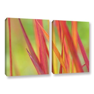 ArtWall 'Cora Niele's Red Winter' 2-piece Gallery Wrapped Canvas Set