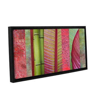 ArtWall 'Cora Niele's Red Green' Gallery Wrapped Floater-framed Canvas