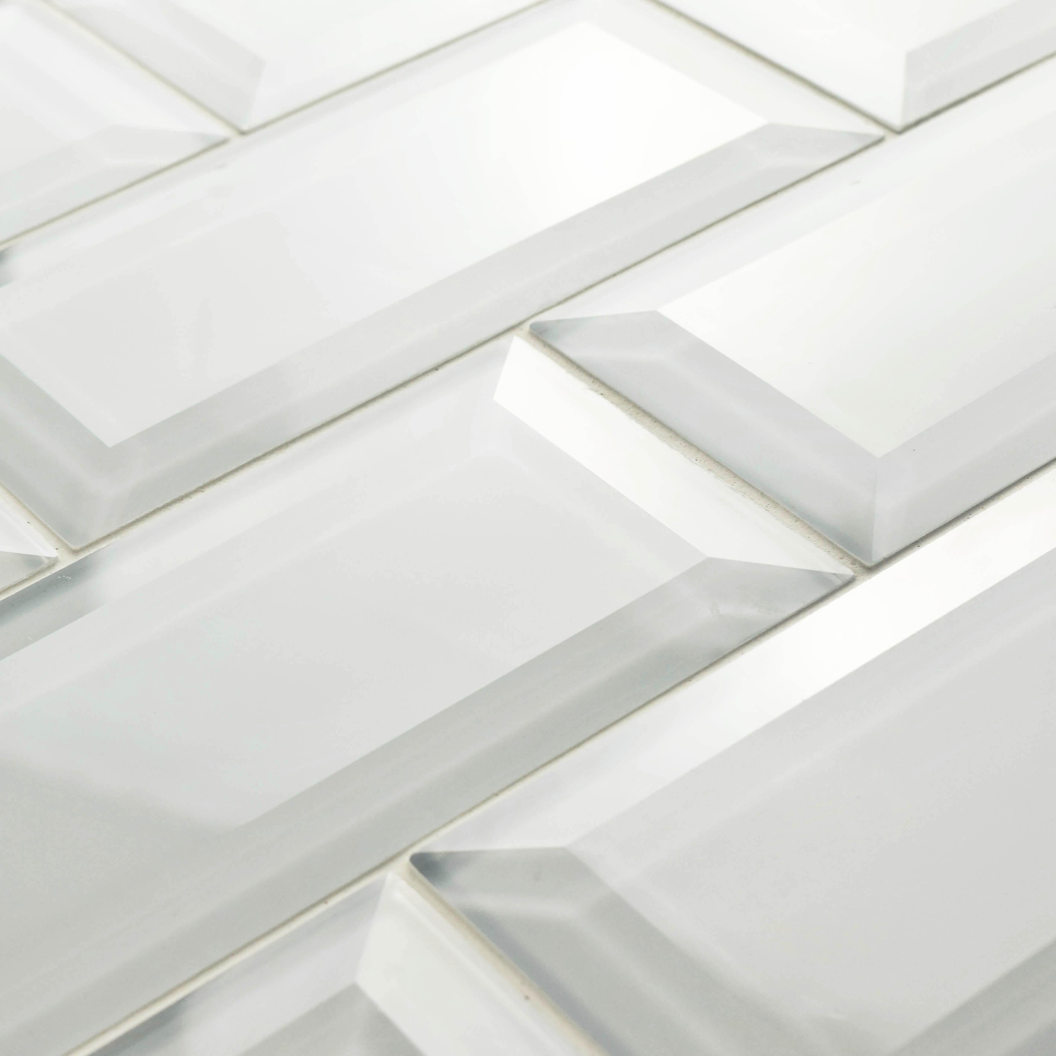 Inch Reflections Beveled Ice White