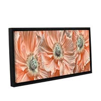 ArtWall 'Cora Niele's Poppyscape' Gallery Wrapped Floater-framed Canvas