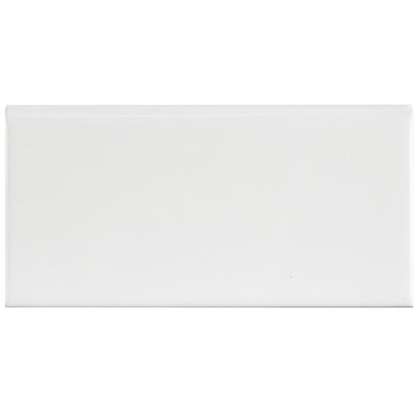 Shop Somertile 3x6 Inch Malda Subway Glossy White Ceramic