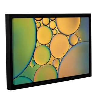 ArtWall 'Cora Niele's Orange Green ' Gallery Wrapped Floater-framed Canvas