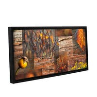 ArtWall 'Cora Niele's October Light' Gallery Wrapped Floater-framed Canvas