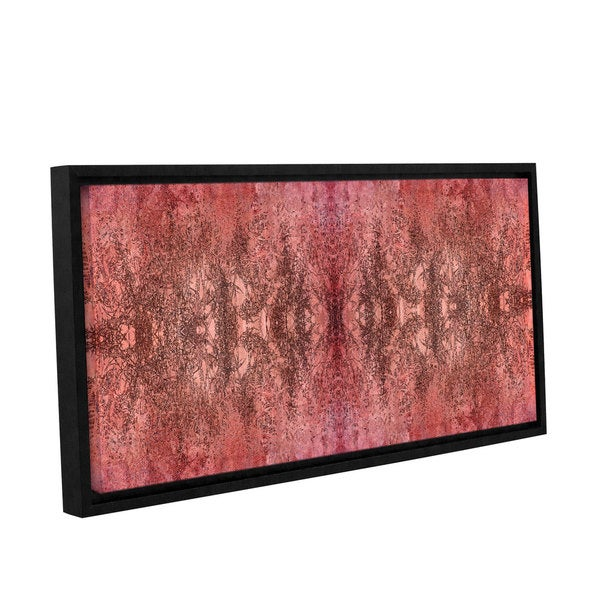 ArtWall 'Cora Niele's Natural Damask' Gallery Wrapped Floater-framed Canvas