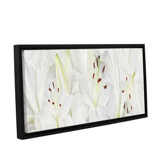 ArtWall 'Cora Niele's Lily Landscape' Gallery Wrapped Floater-framed Canvas