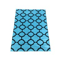 LYKE Home Lizzie Contemporary Blue Area Rug