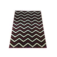 LYKE Home Lizzie Contemporary Red Area Rug - 5' x 8'