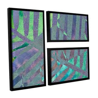 ArtWall 'Cora Niele's Leaf Shades III' 3-piece Floater Framed Canvas Flag Set