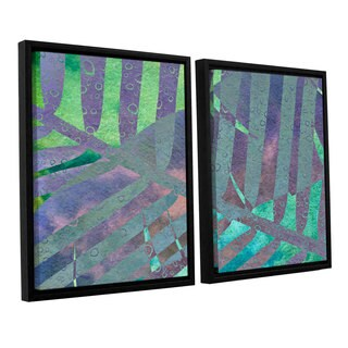 ArtWall 'Cora Niele's Leaf Shades III' 2-piece Floater Framed Canvas Set