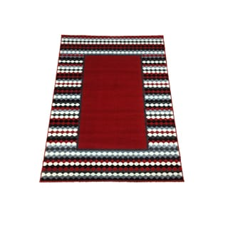 LYKE Home Sofia Transitional Red Area Rug (8' x 11')