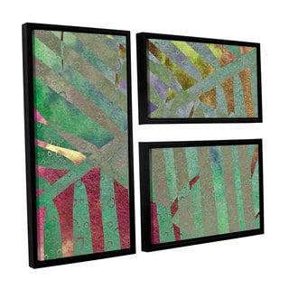 ArtWall 'Cora Niele's Leaf Shades II' 3-piece Floater Framed Canvas Flag Set