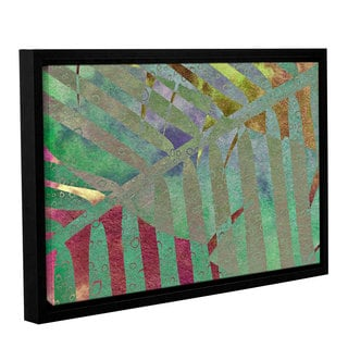 ArtWall 'Cora Niele's Leaf Shades II' Gallery Wrapped Floater-framed Canvas