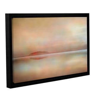 ArtWall 'Cora Niele's Landscape Sunset' Gallery Wrapped Floater-framed Canvas