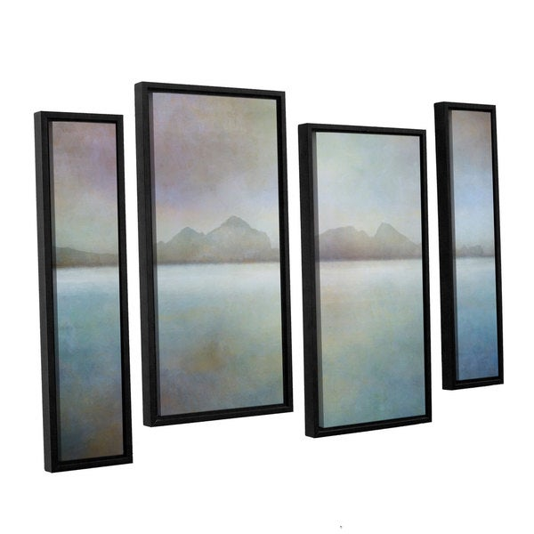 ArtWall Cora Nieles Connected I 4 Piece Gallery Wrapped Canvas Staggered Set 36 by 54