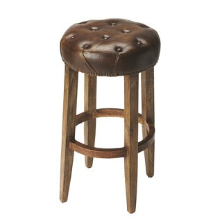 Butler Gallatin Round Leather Bar Stool