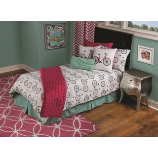 Vintage Bicycle 3-piece Comforter Set by Rizzy Home