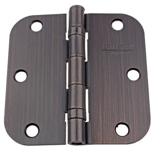 GlideRite 3.5-inch Ball Bearing Door Hinges 0.625-inch Radius Corners Oil Rubbed Bronze (Pack of 12 or 24)