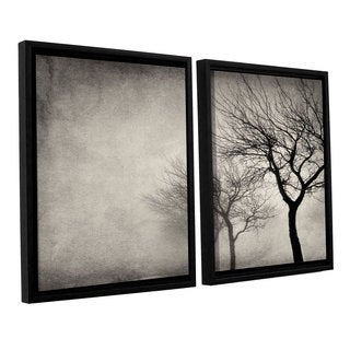 ArtWall 'Cora Niele's Early morning Sepia' 2-piece Floater Framed Canvas Set