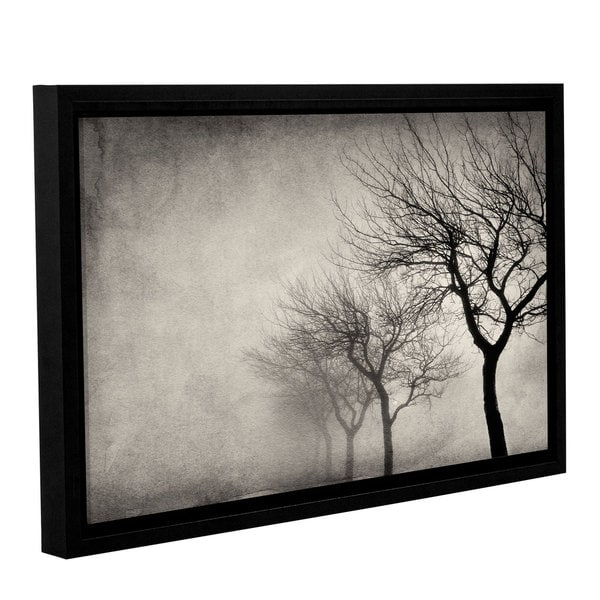 ArtWall 'Cora Niele's Early morning Sepia' Gallery Wrapped Floater-framed Canvas