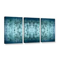 ArtWall 'Cora Niele's Coincident Series V' 3-piece Gallery Wrapped Canvas Set