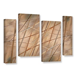 ArtWall 'Cora Niele's Deschampsia' 4-piece Gallery Wrapped Canvas Staggered Set