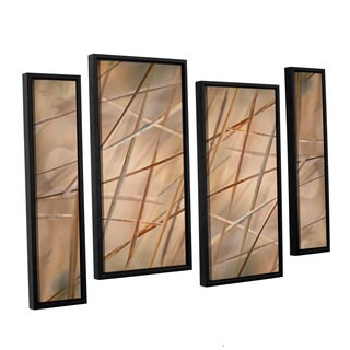 ArtWall 'Cora Niele's Deschampsia' 4-piece Floater Framed Canvas Staggered Set