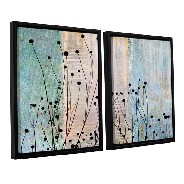 ArtWall 'Cora Niele's Dark Silhouette II' 2-piece Floater Framed Canvas Set