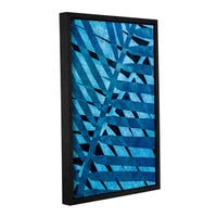 ArtWall 'Cora Niele's Denim I' Gallery Wrapped Floater-framed Canvas - Multi