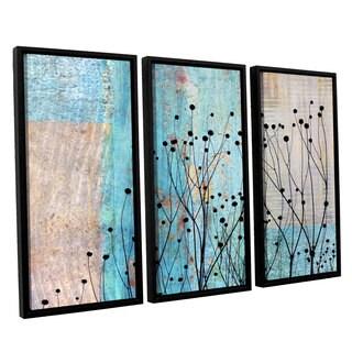 ArtWall 'Cora Niele's Dark Silhouette III' 3-piece Floater Framed Canvas Set