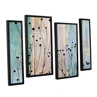 ArtWall 'Cora Niele's Dark Silhouette II' 4-piece Floater Framed Canvas Staggered Set