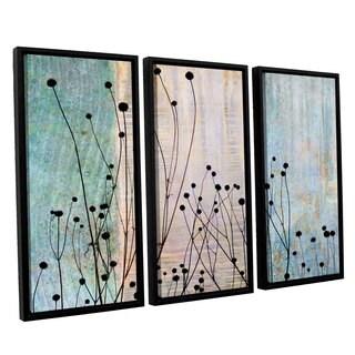ArtWall 'Cora Niele's Dark Silhouette II' 3-piece Floater Framed Canvas Set