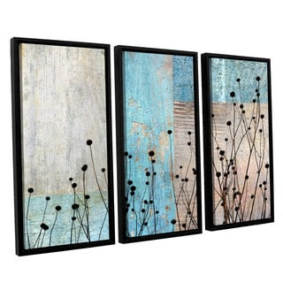 ArtWall 'Cora Niele's Dark Silhouette I' 3-piece Floater Framed Canvas Set