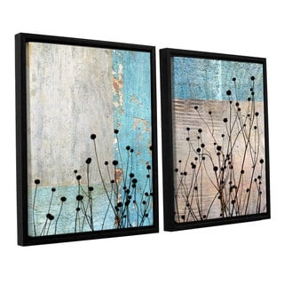 ArtWall 'Cora Niele's Dark Silhouette I' 2-piece Floater Framed Canvas Set