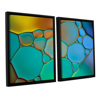ArtWall 'Cora Niele's Connected II' 2-piece Floater Framed Canvas Set