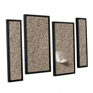 ArtWall 'Cora Niele's Beach Find IV' 4-piece Floater Framed Canvas Staggered Set