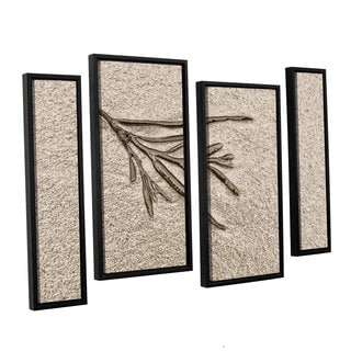 ArtWall 'Cora Niele's Beach Find III' 4-piece Floater Framed Canvas Staggered Set