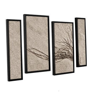 ArtWall 'Cora Niele's Beach Find I' 4-piece Floater Framed Canvas Staggered Set