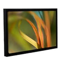 ArtWall 'Cora Niele's Autumn Grass' Gallery Wrapped Floater-framed Canvas