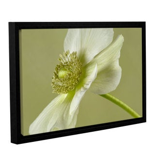 ArtWall 'Cora Niele's Anemone White Green' Gallery Wrapped Floater-framed Canvas