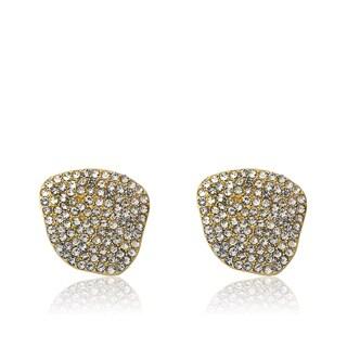 Radiance Bijou By Riccova 14k Gold Overlay Black Crystal Stud Earrings