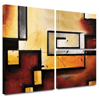 ArtWall 'Jim Morana's Abstract Modern' 3-piece Gallery Wrapped Canvas Flag Set