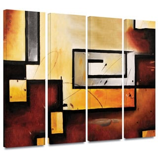 ArtWall 'Jim Morana's Abstract Modern' 4-piece Gallery Wrapped Canvas Set