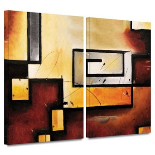 ArtWall 'Jim Morana's Abstract Modern' 2-piece Gallery Wrapped Canvas Set