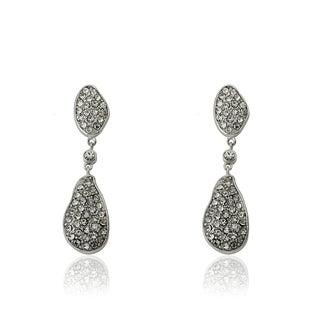 Radiance Bijou By Riccova 14k Gold Overlay Crystal Double Teardrop Dangle Earrings