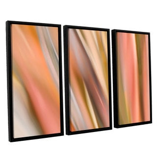 ArtWall 'Cora Niele's Abstract Barcode' 3-piece Floater Framed Canvas Set