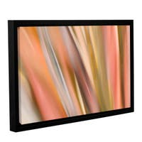 ArtWall 'Cora Niele's Abstract Barcode' Gallery Wrapped Floater-framed Canvas