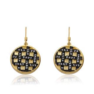 Radiance Bijou By Riccova 14k Gold Overlay Cubic Zirconia Crisscross Earrings