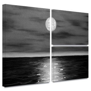ArtWall 'Jim Morana's Moon Rising' 3-piece Gallery Wrapped Canvas Flag Set